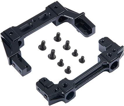 Alloy Metal CNC Front Bumper /& Rear Bumper Mount For Axial SCX10II AX90046 90047