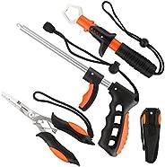 mouhike Fishing Tool Kit, Muti-Function Stainless Steel Pliers with Sheath Lanyard, Fish Lip Gripper, Fishing