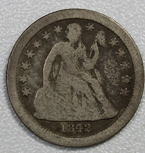 1842 O Seated Liberty Dime 10c Very Good