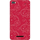 Casotec Floral Red White Design Hard Back Case Cover for Micromax Canvas Hue 2 A316