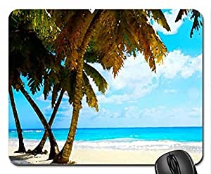 Tropical Beach Mouse Pad, Mousepad (Beaches Mouse Pad, Watercolor style) by mcsharks