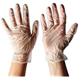 West Chester 2750 Industrial Grade Disposable Vinyl Gloves, 4 mil, Powder Free: Clear, Large, Box of 100