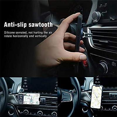 Red Multipurpose Mobile Phone Bracket, Stand 360 Degree Rotation Phone Ring Holder for Car Home HENGBANG