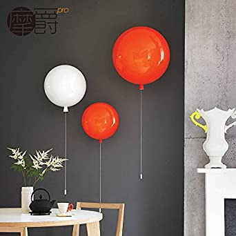 Gk childrens room wall color balloon bedroom lamp aisle wall lamp gk childrens room wall color balloon bedroom lamp aisle wall lamp modern minimalist bedroom bedside lamp single headwhite30cm amazon lighting mozeypictures Gallery