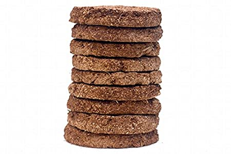 Navya Agriallied 24-Piece 130mm Cow Dung Round Cake(Brown)