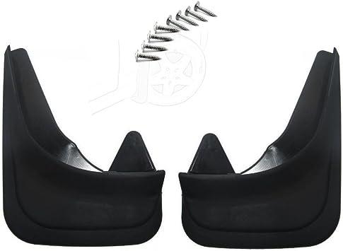 Schwarz 4 St/ück f/ür vorne und hinten inklusive Schrauben Universal-Schmutzf/änger