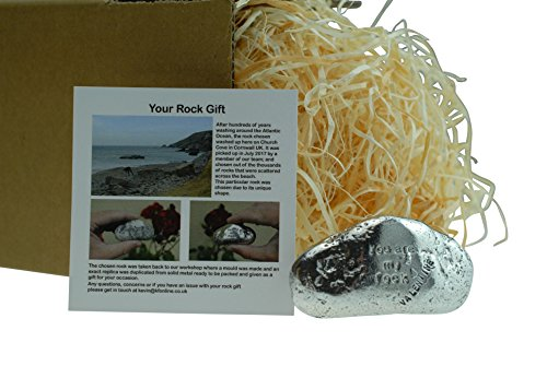 Valentines You Are My Rock Gift Idea - Solid Metal Heavy Polished Rock Gift for Valentines Day Gift by Pirantin