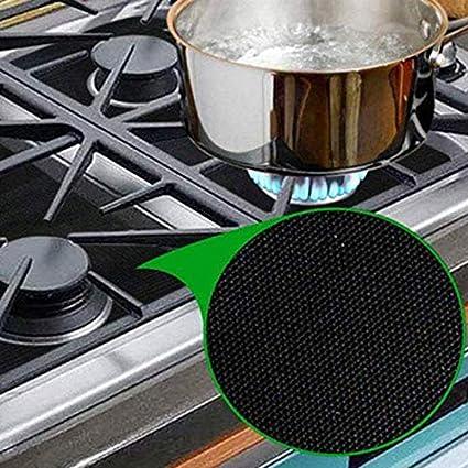 8 Pcs Kitchen Gas Stove Mat Protector Pad Hob Top Cover Burner Reusable Liner