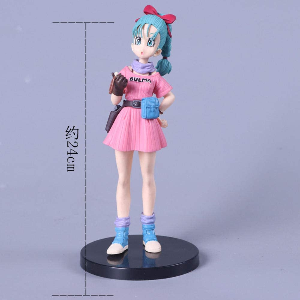 Anime Model Anime Statue Budokai 7 Buma Bulma Pvc Movable Doll Set Can Collect Ornaments High 17Cm