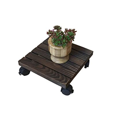 AILELAN Plant Caddy, Heavy Duty Plant Caddy with Wheels, Holds Up 10 inches and 80 lbs Strong Plant Caddy: Garden & Outdoor