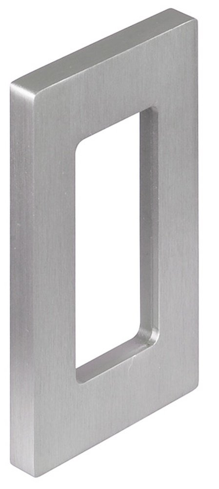 Rectangular Design Flap Door Handle Furniture Handle Stainless Steel Shell Handle for Glass Doors – Model H3700; The Jewels Shell Handle Furniture Fittings by Gedotec® | 110 x 60 x 10 mm