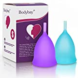 Bodybay menstrual cup with Super Guarantee,Set of 2 with FDA Registered,Feminine Alternative Protection to Cloth Sanitary Napkins- Pre Childbirth Small Size