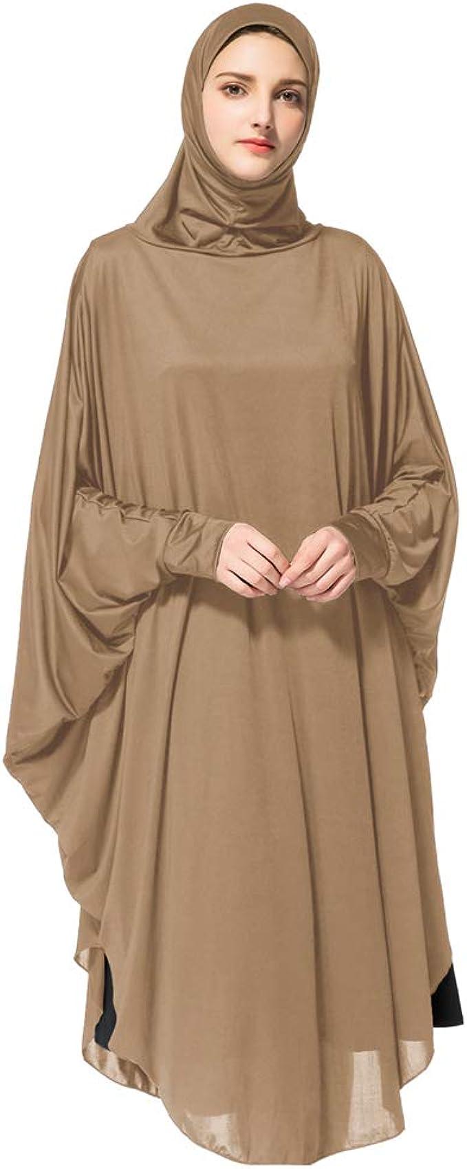 BaronHong Mujeres musulmanas árabes Islámica Abaya Ramadan Bata Kaftan Bata con Hijab: Amazon.es: Ropa y accesorios