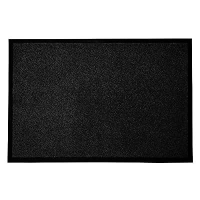 casa pura Entrance Floor Mat, Black | Absorbent, Non-slip, Indoor/Outdoor (Multiple Sizes)