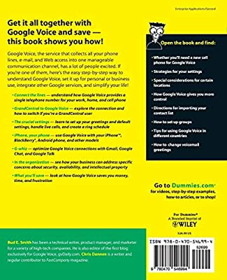 Google Voice For Dummies: Bud E  Smith, Chris Dannen: Amazon com