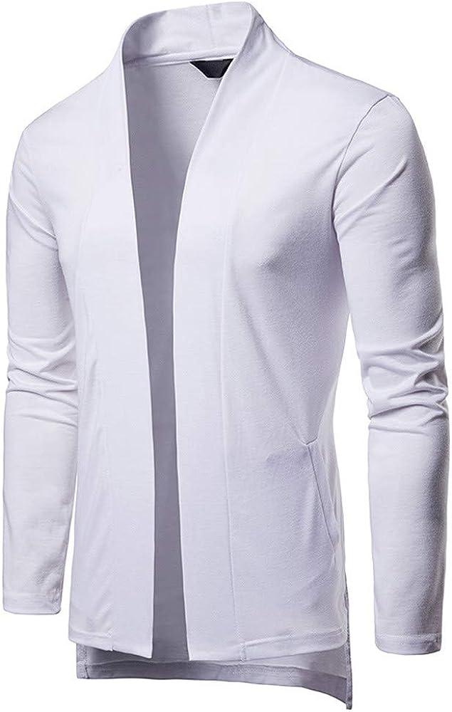 Mens Formal Slim Fit Long Sleeve Suit Jacket Trench Coat Top Blouse NRUTUP Mens Cardigan Jacket