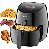 Gerek Air Fryer 3.7Qt, 1350W Comes with Recipes & CookBook Touch Screen Digital Air Fryer & Insulted Basket Handle - Dishwasher Safe - Auto Shut off & Timer Fry Healthy With 80% Less Fat-Ark200BE