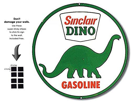 Shop72 - Sinclair Dino Tin Signs Retro Vintage Gas Tin sign n Oil Tin Sign Wall Decor Garage - - Sinclair Oil Sign