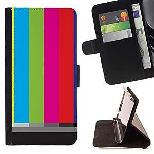 For Samsung Galaxy S3 III i9300 i747 Case , Antiguo Pantalla Tv Stripes Art Televisión retra- la tarjeta de Crédito Slots PU Funda de cuero Monedero caso cubierta de piel