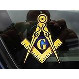 ProSticker 004 (One) 10.1cm Masonic Series Freemason Compass Square Decal Sticker