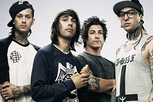 Pierce The Veil Spun Silk Fabric Cloth Wall Poster Print