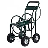 300'' Outdoor Water Hose Reel Cart Heavy Duty Garden Yard Water Planting With Ebook