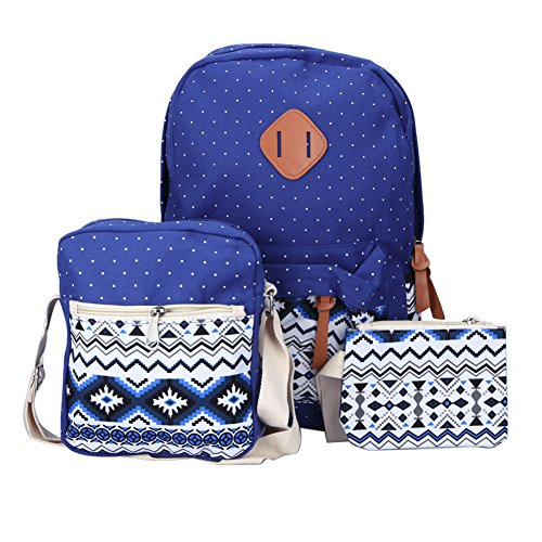 Demiawaking - Bolso mochila para mujer azul oscuro