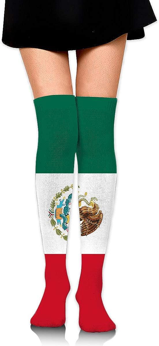 2 Pairs Flag Of Mexico Long Socks For Women Womens Knee High Socks Best For Running