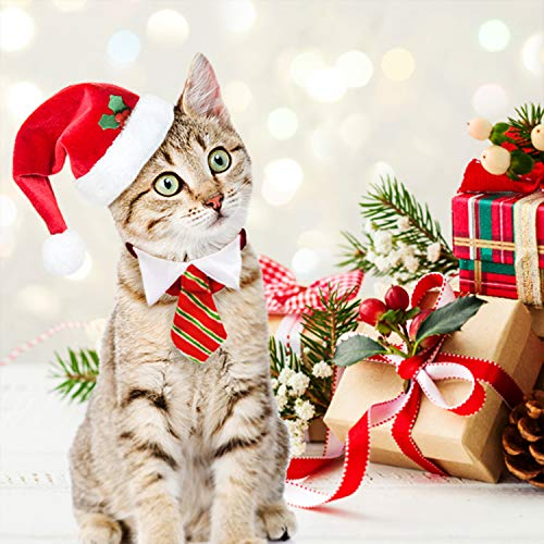 Dog Santa Hat Cat Xmas Hat, Cat Christmas Outfits -