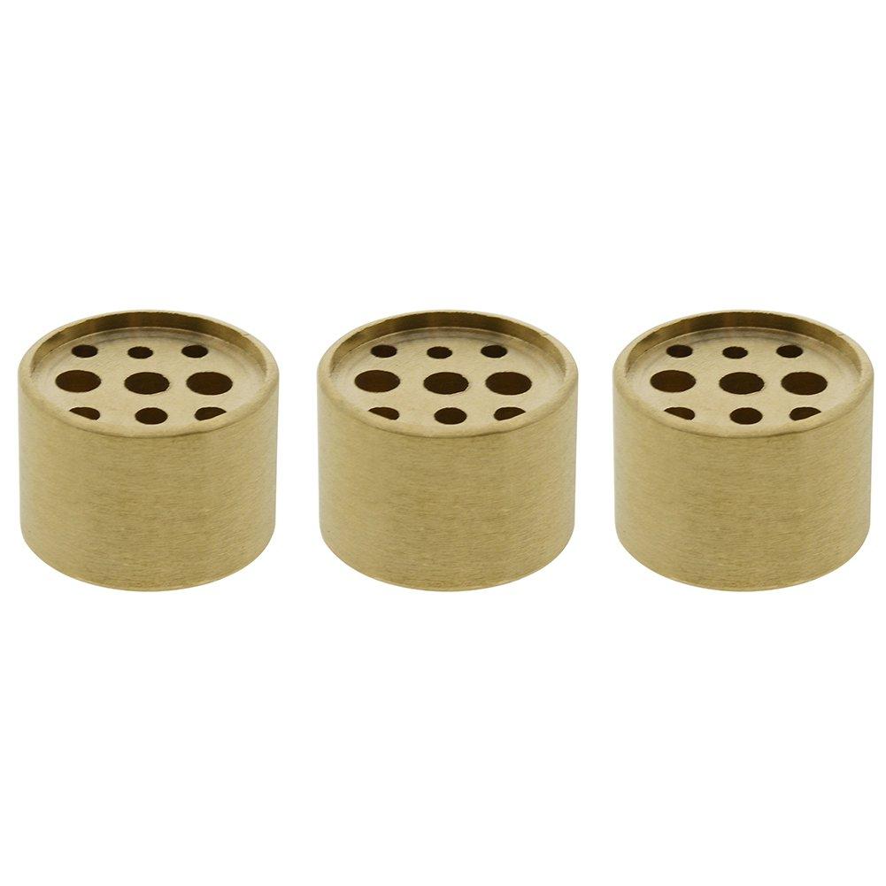Saim 3個Fine銅円柱形状Incenseホルダー9穴真鍮LotusスティックBurner for Incense B074W8R5WC