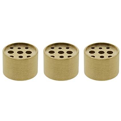 Saim 3 Pcs Fine Copper Cylinder Shape Incense Holder 9 Holes Brass Lotus  Stick Burner for Incense