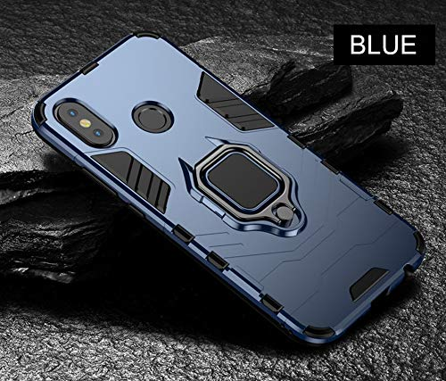 (Fitted Cases - Magnetic Metal Ring Case for Xiaomi A1 A2 8 Phone Case Full Cover for Xiaomi Mi8 A2 A1 Soft Silicone Shockproof Case - for MI 8 SE_Blue - Stainless Milk Cartier Beer Silver)