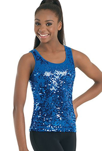 Balera Tank Top Girls Top for Dance Womens Shirt with Sequins and Wide Straps