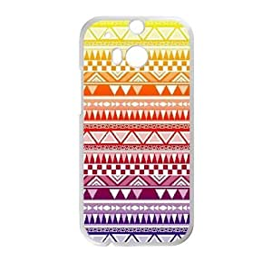 HTC One M8 Phone Case White Anchor Pattern HJF679437