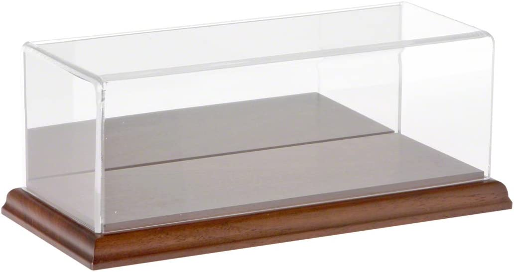 Plymor Clear Acrylic Display Case with Hardwood Base 9 W x 3.5 D x 3 H