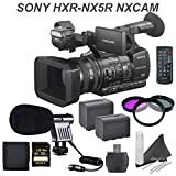 Sony HXR-NX5R NXCAM Professional Camcorder w/ Built in LED Light & Essential Bundle: Includes Boom Mic, High Capacity Battery, Filter Kit and more...