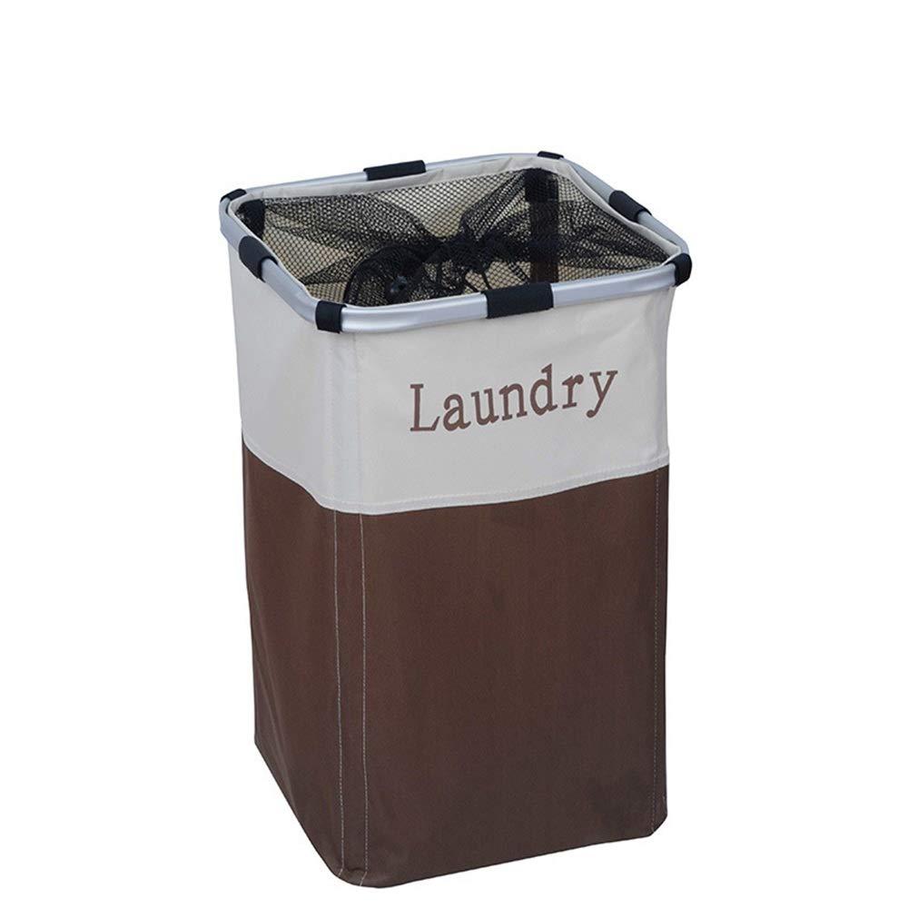 Jajx-hu Dirty Clothes Laundry Storage Basket Large Freestanding Laundry Hamper Basket Water Resistant Oxford Cloth Storage Baskets for Bedroom Bathroom (Color, Size : 333352cm) by Jajx-hu