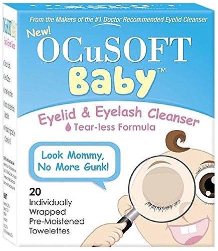 OCuSOFT Baby Eyelid Eyelash Cleanser Towelettes 20 ea Pack of 2