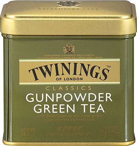 Twinings Green Gunpowder Tea, Loose Tea, 3.53-Ounce Tins (Pack of 6) (Bags Tea Twining Green)