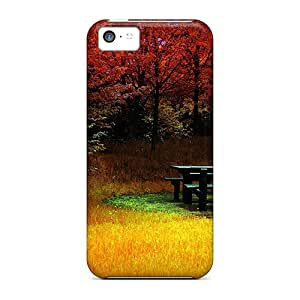 High-quality Durable Protection Case For Iphone 5c(fire Autumn Feuer Herbst)