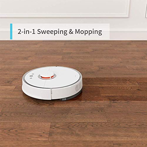 Roborock S5 Robotic Vacuum and Mop Cleaner 2000Pa Super Power Suction Wi Fi  Connectivity and Smart Navigating Robot Vacuum with 5200mAh Battery
