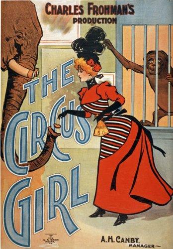 TZ3 Vintage c1897 el circo Diseño de chica con diseño cartel ...