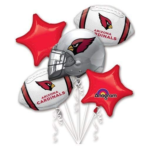 Anagram 31426 Arizona Cardinals Balloon Bouquet, Multicolored ()