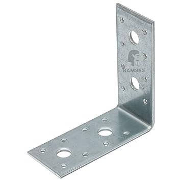 Winkelverbinder mit Langloch 50 x 50 x 30 x 2mm sendzimirverzinkt 10 Stück