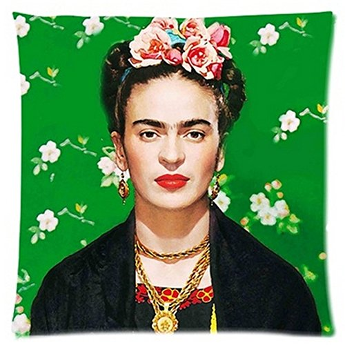 Cute Halloween Quotes Sayings Kids (cushion cover colorful size 45 x 45 CM Cushion Cover Frida Kahlo Pillow Case Firm Flower self-portrait Sofa Butterfly Bedroom Home Decorative Throw cushion cover for sofa (A1))