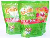 Gain Flings 3-in-1 Tropical Sunrise Laundry Detergent 20 Pods (Pack of 2)