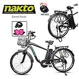 NAKTO 26' 250W Cargo Electric Bicycle Sporting...