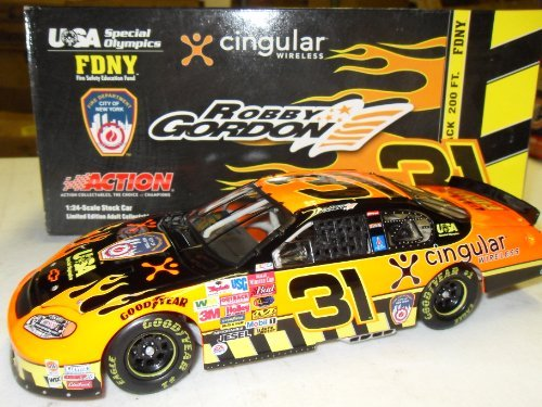 - Robby Gordon Cingular FDNY 2003 #31 Action Racing 1:24 Die-Cast Stock Car