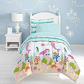 dream FACTORY Mermaid Dreams Comforter Set, Twin, Light Blue