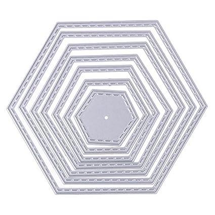 Amazon.com: Whitelotous Cutting Dies Frames Cut Dies Stencil Metal ...